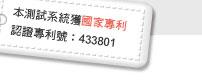認證專利號:433801